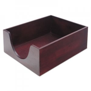 Carver CVR08213 Hardwood Letter Stackable Desk Tray, Mahogany