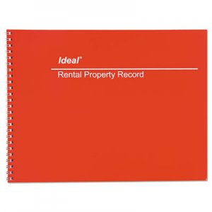 Ideal DOMM2512 Rental Property Record Book, 8 1/2 x 11, 60-Page Wirebound Book