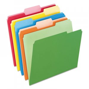 Pendaflex PFX15213ASST Colored File Folders, 1/3 Cut Top Tab, Letter, Assorted Colors, 100/Box