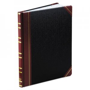 Boorum & Pease BOR1602123F Record Ruled Book, Black Cover, 300 Pages, 10 1/8 x 12 1/4