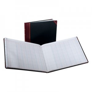 Boorum & Pease BOR2115012 Columnar Accounting Book, 12 Column, Black Cover, 150 Pages, 8 1/8 x 10 3/8