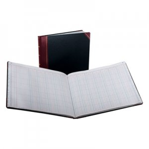 Boorum & Pease BOR2515024 Columnar Accounting Book, 24 Column, Black Cover, 150 Pages, 15 1/8 x 12 7/8