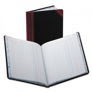 Boorum & Pease BOR38150J Record/Account Book, Journal Rule, Black/Red, 150 Pages, 9 5/8 x 7 5/8