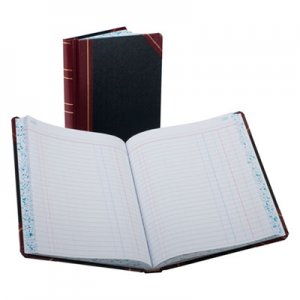 Boorum & Pease BOR38300J Record/Account Book, Journal Rule, Black/Red, 300 Pages, 9 5/8 x 7 5/8 38