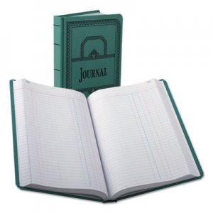 Boorum & Pease 66500J Record/Account Book, Journal Rule, Blue, 500 Pages, 12 1/8 x 7 5/8 BOR66500J
