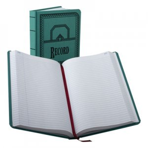 Boorum & Pease 66500R Record/Account Book, Record Rule, Blue, 500 Pages, 12 1/8 x 7 5/8 BOR66500R