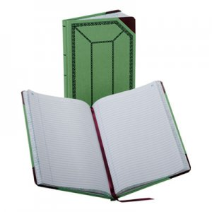 Boorum & Pease 6718150R Record/Account Book, Record Rule, Green/Red, 150 Pages, 12 1/2 x 7 5/8 BOR6718150R