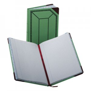 Boorum & Pease 6718300R Record/Account Book, Record Rule, Green/Red, 300 Pages, 12 1/2 x 7 5/8 BOR6718300R