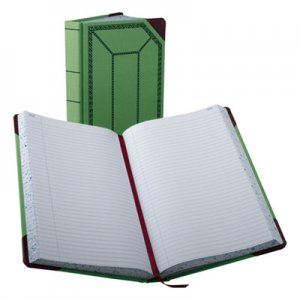 Boorum & Pease 6718500R Record/Account Book, Record Rule, Green/Red, 500 Pages, 12 1/2 x 7 5/8 BOR6718500R