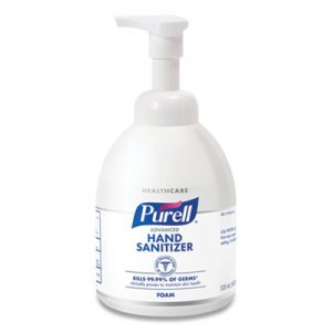 PURELL 5792-04 Non-Aerosol Foaming Hand Sanitizer, w/Moisturizers, 18 oz Pump Bottle GOJ579204