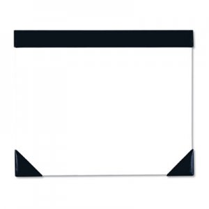 House of Doolittle HOD45002 Executive Doodle Desk Pad, 25-Sheet White Pad, Refillable, 22 x 17, Black/Silver