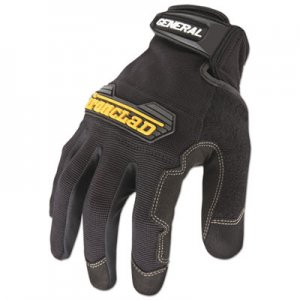 Ironclad IRNGUG04L General Utility Spandex Gloves, Black, Large, Pair GUG-04-L