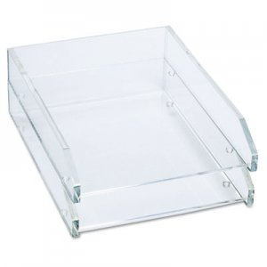 Kantek KTKAD15 Double Letter Tray, Two Tier, Acrylic, Clear AD-15