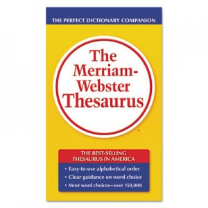 Merriam Webster 850 The Merriam-Webster Thesaurus, Dictionary Companion, Paperback, 800 Pages MER850