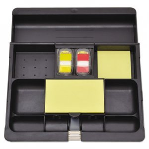 Post-it MMMC71 Recycled Plastic Desk Drawer Organizer Tray, Plastic, Black C-71