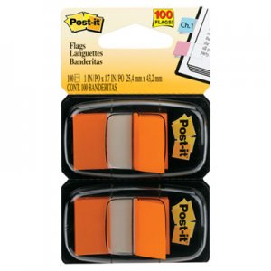 Post-it Flags MMM680OE2 Standard Page Flags in Dispenser, Orange, 100 Flags/Dispenser 680-OE2