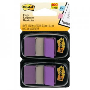 Post-it Flags MMM680PU2 Standard Page Flags in Dispenser, Purple, 100 Flags/Dispenser 680-PU2