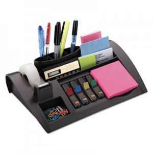 Post-it MMMC50 Notes Dispenser with Weighted Base, Plastic, 12 x 8 x 2, Black C-50