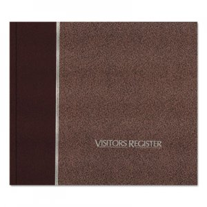 National RED57803 Visitor Register Book, Burgundy Hardcover, 128 Pages, 8 1/2 x 9 7/8 57-803