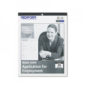 Rediform REDM66026NR Employment Application, 8 1/2 x 11, 50 Forms M660-26NR
