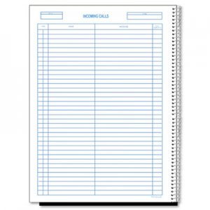 Rediform RED50111 Wirebound Call Register, 8 1/2 x 11, 3, 700 Forms/Book 50-111