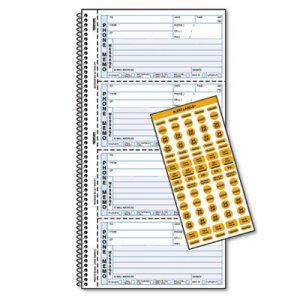 Rediform RED50176 Wirebound Message Book, 2 3/4 x 5, Two-Part Carbonless, 400 Forms, 120 Labels 50-176