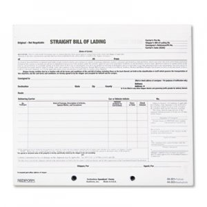 Rediform RED44301 Bill of Lading Short Form, 8 1/2 x 7, Three-Part Carbonless, 250 Forms 44-301