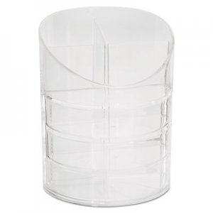 Rubbermaid Commercial 14096ROS Small Storage Divided Pencil Cup, Plastic, 4 1/2 dia. x 5 11/16, Clear RUB14096ROS