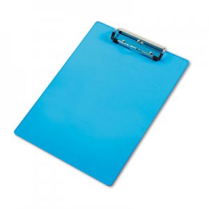 "Saunders SAU21567 Acrylic Clipboard, 1/2"" Capacity, Holds 8-1/2w x 12h, Transparent Blue"