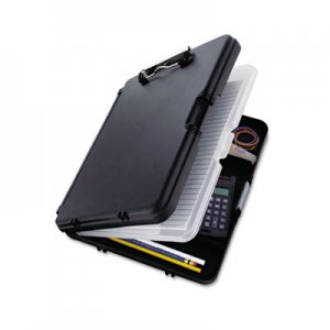 "Saunders 00552 WorkMate II Storage Clipboard, 1/2"" Capacity, Holds 8-1/2w x 12h, Black/Charcoal SAU00552"