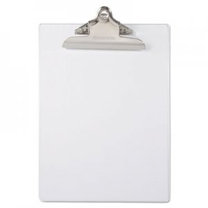 "Saunders SAU21803 Recycled Plastic Clipboard with Ruler Edge, 1"" Clip Cap, 8 1/2 x 12 Sheet, Clear"