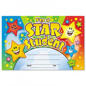 TREND TEPT81019 Recognition Awards, I'm a Star Student, 8 1/2w by 5 1/2h, 30/Pack