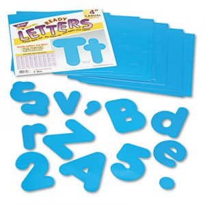 "TREND T79903 Ready Letters Casual Combo Set, Blue, 4""h, 182/Set TEPT79903"