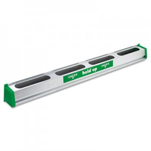 "Unger UNGHU900 Hold Up Aluminum Tool Rack, 36"", Aluminum/Green"