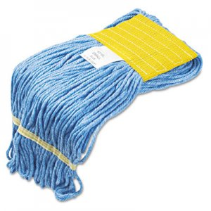 Boardwalk 501BL Super Loop Wet Mop Heads, Cotton/Synthetic, Small Size, Blue BWK501BL