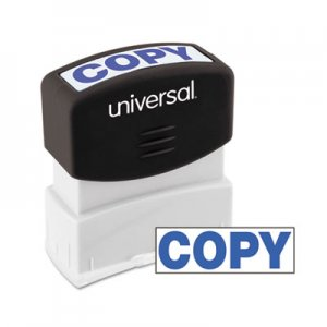 Genpak UNV10047 Message Stamp, COPY, Pre-Inked One-Color, Blue