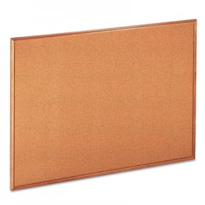 Genpak UNV43604 Cork Board with Oak Style Frame, 48 x 36, Natural, Oak-Finished Frame