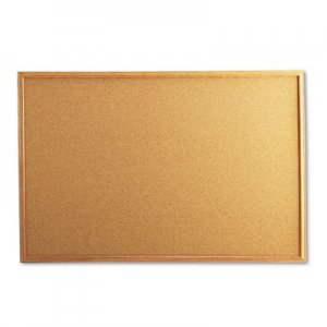 Genpak UNV43603 Cork Board with Oak Style Frame, 36 x 24, Natural, Oak-Finished Frame