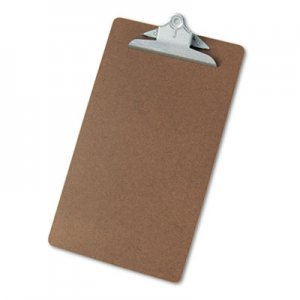 "Genpak UNV40305 Hardboard Clipboard, 1"" Capacity, Holds 8 1/2 x 14, Brown"
