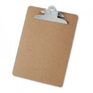 "Genpak UNV40304 Hardboard Clipboard, 1"" Capacity, Holds 8 1/2 x 11, Brown"