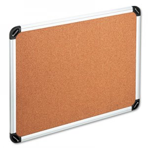 Genpak UNV43714 Cork Board with Aluminum Frame, 48 x 36, Natural, Silver Frame