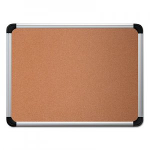 Genpak UNV43713 Cork Board with Aluminum Frame, 36 x 24, Natural, Silver Frame