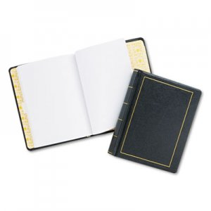 Wilson Jones WLJ039511 Looseleaf Minute Book, Black Leather-Like Cover, 250 Unruled Pages, 8 1/2 x 11 0395-11