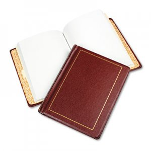 Wilson Jones WLJ039611 Looseleaf Minute Book, Red Leather-Like Cover, 250 Unruled Pages, 8 1/2 x 11 0396-11