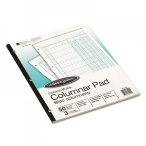 Wilson Jones WLJG7203A Accounting Pad, Three Eight-Unit Columns, 8-1/2 x 11, 50-Sheet Pad