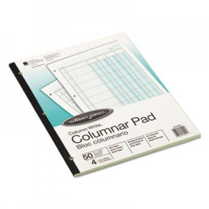 Wilson Jones G7204A Accounting Pad, Four Eight-Unit Columns, Two-sided, Letter, 50-Sheet Pad WLJG7204A