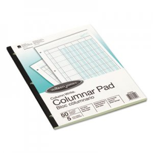 Wilson Jones WLJG7205A Accounting Pad, Five Eight-Unit Columns, 8-1/2 x 11, 50-Sheet Pad