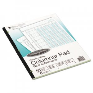 Wilson Jones G7206A Accounting Pad, Six-Unit Columns, 8-1/2 x 11, 50-Sheet Pad WLJG7206A