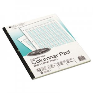 Wilson Jones WLJG7208A Accounting Pad, Eight Six-Unit Columns, 8-1/2 x 11, 50-Sheet Pad