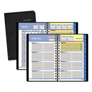 "AT-A-GLANCE 76-02-05 QuickNotes Recycled Weekly/Monthly Appointment Book, Black, 4 7/8"" x 8"", 2012 AAG760205"